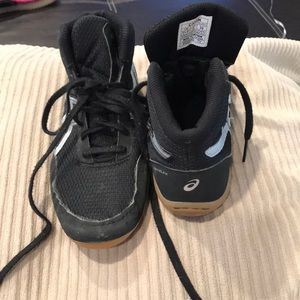 ASICS Matflex Youth's Wrestling Shoes Black/Silver